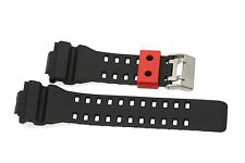 16MM BLACK RED RUBBER WATCH BAND FOR CASIO GSHOCK GA300 GA100 GW8900 GA120 GD110