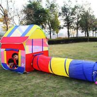 Folding Children Baby Ball Play Game Tent Tunnel Play In/Outdoor Toy Kids Gift