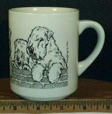 Vintage The Cache 1990 Mary Jung Lakeland Terrier Puppy Dogs Coffee Mug Cup