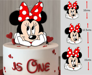 Minnie Mouse PRE-CUT Edible Icing Cake Topper Image Party Decoration #226
