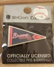 2014 Atlanta Braves logo pennant shape lapel pin MLB
