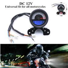 12V Motorcycle LCD Digital Speedo Odometer Tachometer Gear Fuel Oil Gauge Device