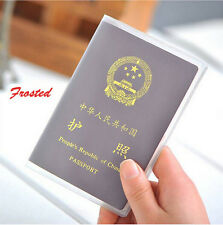 Travel Protector Frosted Unclear Passport Cover Holder Case Organizer ID Card