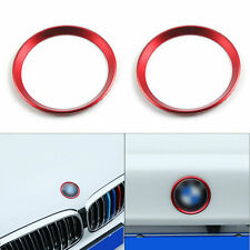 For BMW 5 Series E60 E63 F10 E46 E39 Red Front Hood Rear Trunk Logo Ring Emblem