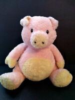 Baby Ganz Tubby Tummy pig piggy bell Soft Plush Stuffed Animal lovey rattle toy