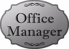 """Office Manager"" elegant office door sign, medical office sign - Free Shipping"