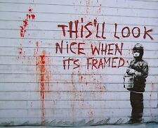 "Banksy, This'll Look Nice..., 8""x10"", Graffiti Art, Giclee Canvas Print"