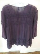 Tunique, chemise Comptoir des Cotonniers beau violet manches 3/4 taille 42