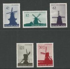 Netherlands 1963 Windmills semipostals--Attractive Topical (B373-77) MNH