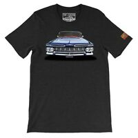 1959 Chevy Impala Front The Legend Classic Car Men's T-shirts Made in USA