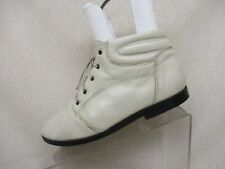 Danexx Ankle Boots White Leather Lace Up Ankle Comfort Boots Booties Size 8 M