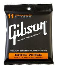 GIBSON BRITE WIRES MEDIUM E-GITARREN SAITEN STÄRKE .011 - .050 MADE IN USA