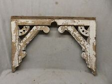 Pair Large Antique Wood Corbels Shelf Brackets Shabby Vtg Chic 18x24 458-17P