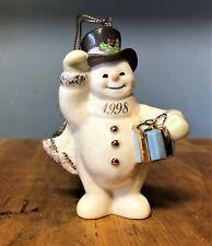 1998 Lenox Classics Snowman A Frosty Morning Ornament Coa Original Box