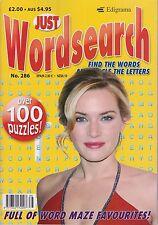 Just Wordsearch  #286 NEW PUZZLE Magazine (Free 1st class post U.K.)