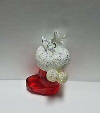 "Swarovski crystal red stocking stars snow swan logo 2"" tall"