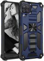 For Samsung Galaxy A12 Heavy Duty Armor Case Hybrid Rugged Bumper Stand Cover