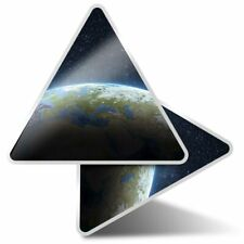 2 x Triangle Stickers 10 cm - Planet Earth from Space Solar System  #8352