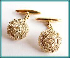 Diamonds & 18K Yellow Gold - 1920's Unusual Antique Cufflinks with 40 Rose Cut