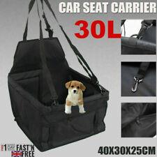 More details for large car seat carrier cat dog pet puppy travel folding cage booster belt bag uk