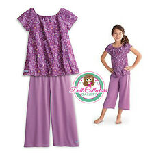 American Girl CL MY AG PURPLE PEACOCK PJs SIZE S(7-8) for Girls Pajamas NEW