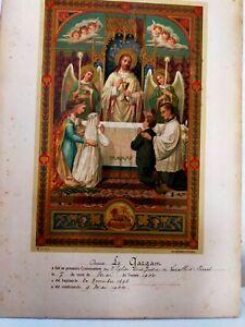 CERTIFICAT DE PREMIERE COMMUNION , 1904