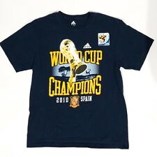 Adidas Fifa Spain World Cup Champions 2010 T-Shirt Men's L South Africa soccer