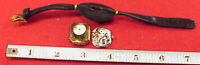 VINTAGE NEEDS REPAIRS JUVENIA RARE BUTTON HOLE LAPEL WRISTWATCH GOLD PLATED