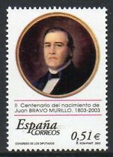 España 2003 estampillada sin montar o nunca montada SG3966 200th aniversario del nacimiento de Juan Bravo Murillo