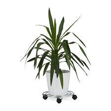 Pflanzenroller mit Bremse runder Blumenroller Untersetzer aus Metall Rollbrett
