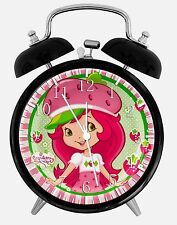 "Strawberry Shortcake Alarm Desk Clock 3.75"" Home or Office Decor W421 Nice Gift"