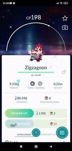 Pokemon Go Shiny Zigzagoon Galarian Mini Acc or Trade