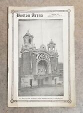 HARVARD vs YALE HOCKEY PROGRAM - 1915 - BOSTON ARENA - RARE