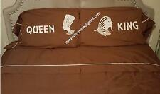 King sized couples sheet set King and Queen chocolate brown