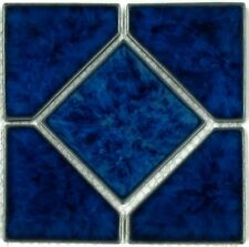"Fujiwa Porcelain Swimming Pool Waterline Tile - TITAN 662 SAPPHIRE 6"" X 6"" Pac2"