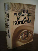 Life Is Elsewhere Milan Kundera Fiction 1st Edition First Printing Classic Novel