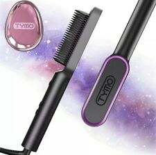 TYMO RING Hair Straightener Brush – Hair Straightening Iron with Built-in Comb,
