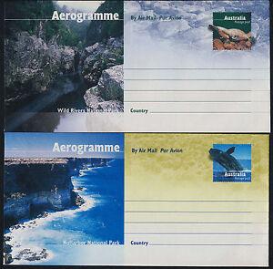 Australia A139-43 Aerograms - National Parks, Animals, Birds, Snake