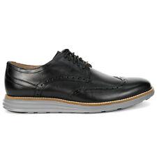 Cole Haan Men's OriginalGrand Wingtip Oxford Black Leather/Ironstone Shoes C2...