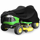 """Black Lawn Tractor Cover 190T Fabric Riding Lawn Mower Cover for Up to 54"""" Deck"""