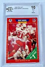 🔥🏈 BARRY SANDERS 1989 PRO SET ROOKIE RC #494 BECKETT 10 DETROIT LIONS NFL 🏈🔥