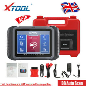 XTOOL D8 Car OBD2 All System Scanner Bidirectional ABS Diagnostic ECU Key Coding
