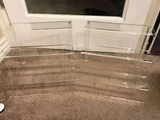 "Three tier riser 3"" deep stair steps X 12"" wide clear Acrylic set of 2"