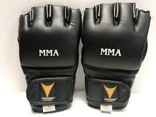 ProForce XL Thunder Vinyl MMA Gloves Boxing Kickboxing Muay Thai Gloves Black