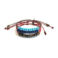 Men Bracelet Natural Roundel Gemstone Bead Handmade Adjustable By Ruigos