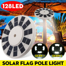 128 Led Solar Flagpole Lights Waterproof Solar Powered Flag Pole Us Stock