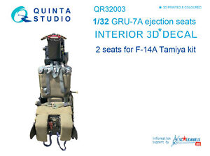 Quinta QR32003 GRU-7A ejection seats for F-14A (2pcs) (for Tamiya kit)
