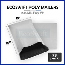 75 13x16 White Poly Mailers Shipping Envelopes Self Sealing Bags 235 Mil