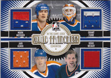 13-14 ITG Used Mark Messier Kurri Weight Grant Fuhr /10 GOLD Jersey Oilers 2013