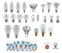BRANDED GU10 / CANDLE / GOLF / GLS / HALOGEN/LED /APPLIANCE HOUSING LIGHT BULBS